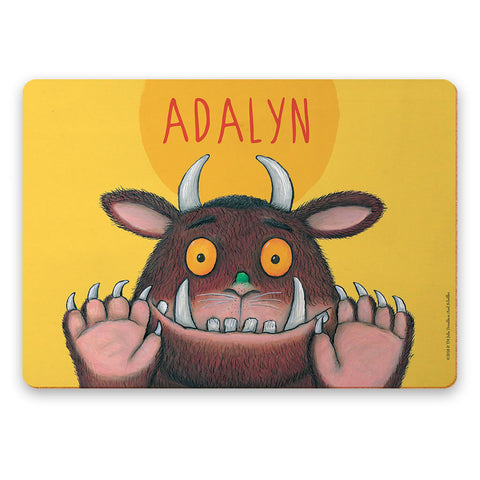 Yellow Gruffalo Personalised Placemat