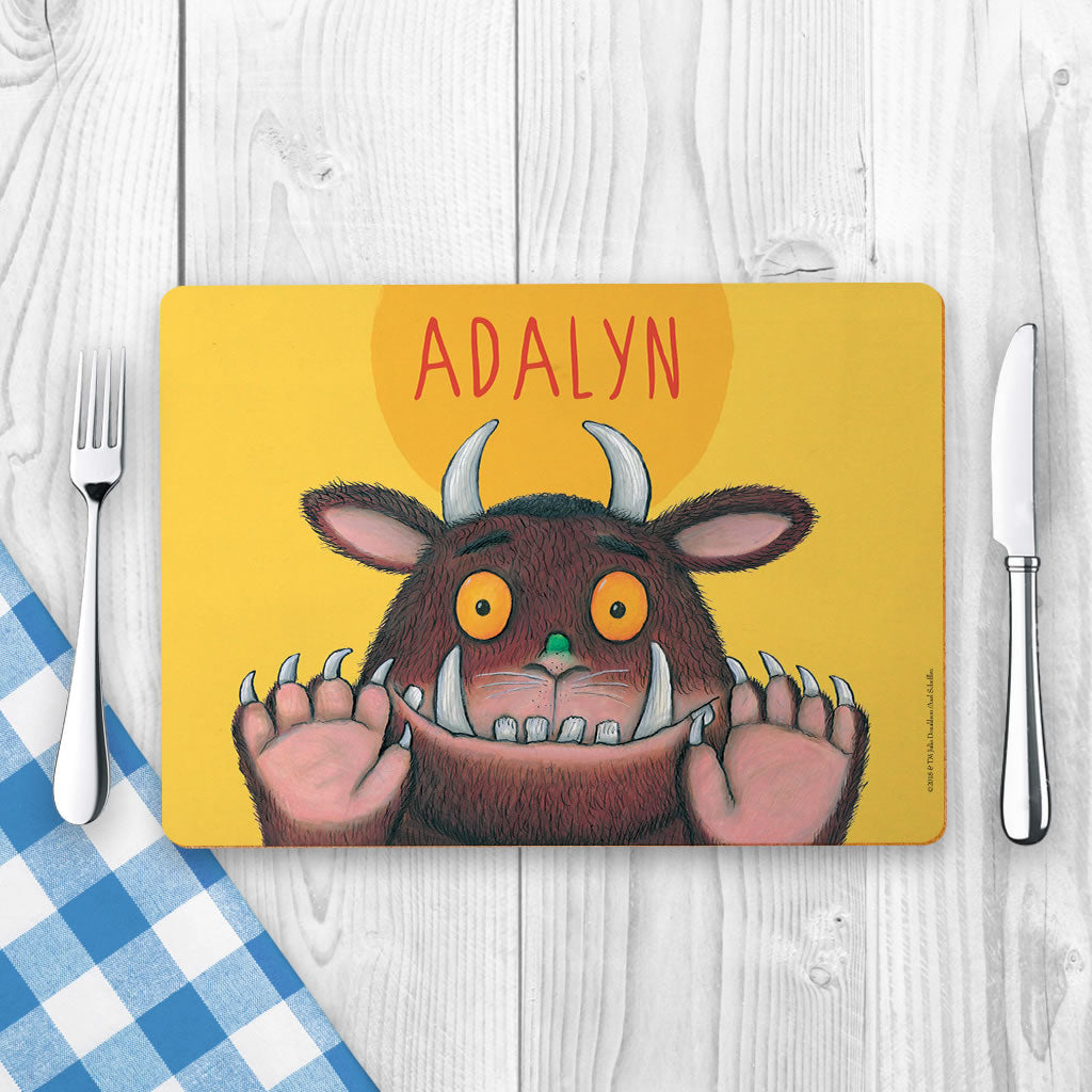 Yellow Gruffalo Personalised Placemat (Lifestyle)