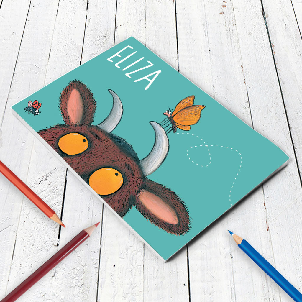 Gruffalo and Butterfly Personalised A5 Notepad (Lifestyle)