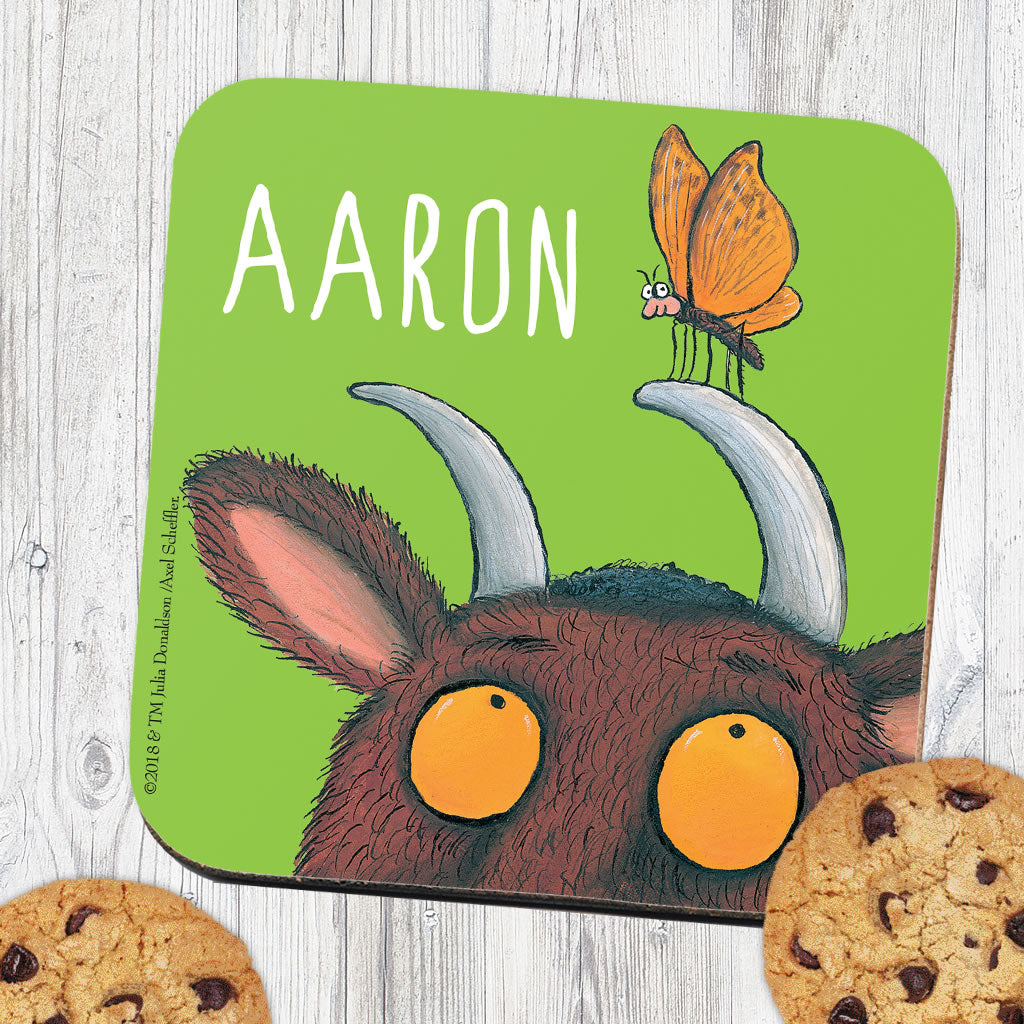 Green Gruffalo Personalised Coaster (Lifestyle)