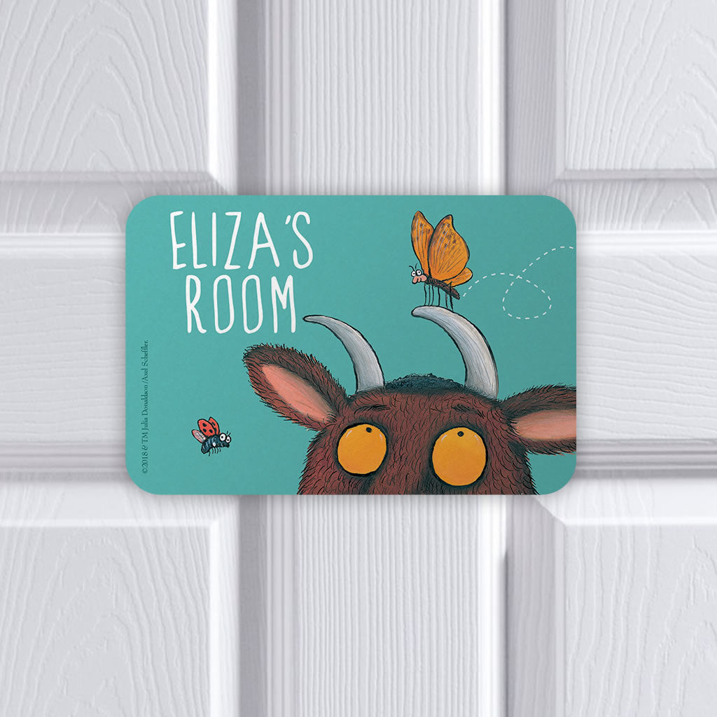 Personalised Blue Gruffalo Personalised Door Plaque (Lifestyle)