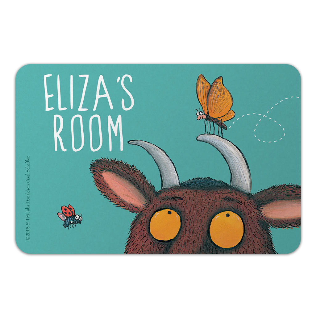 Personalised Blue Gruffalo Personalised Door Plaque