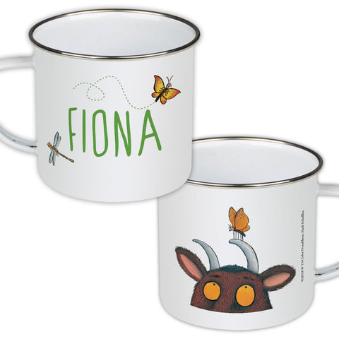Gruffalo and Butterfly Personalised Enamel Mug