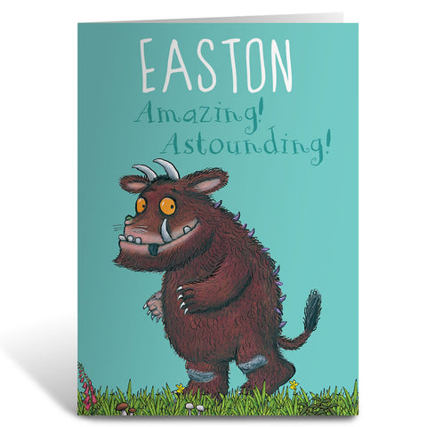 """Astounding!"" Gruffalo Personalised Greeting Card"
