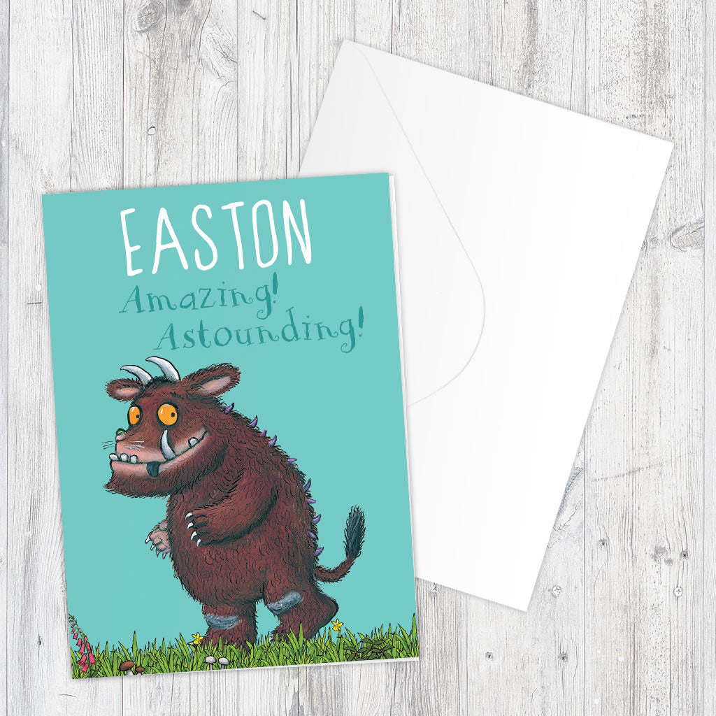 """Astounding!"" Gruffalo Personalised Greeting Card (Lifestyle)"