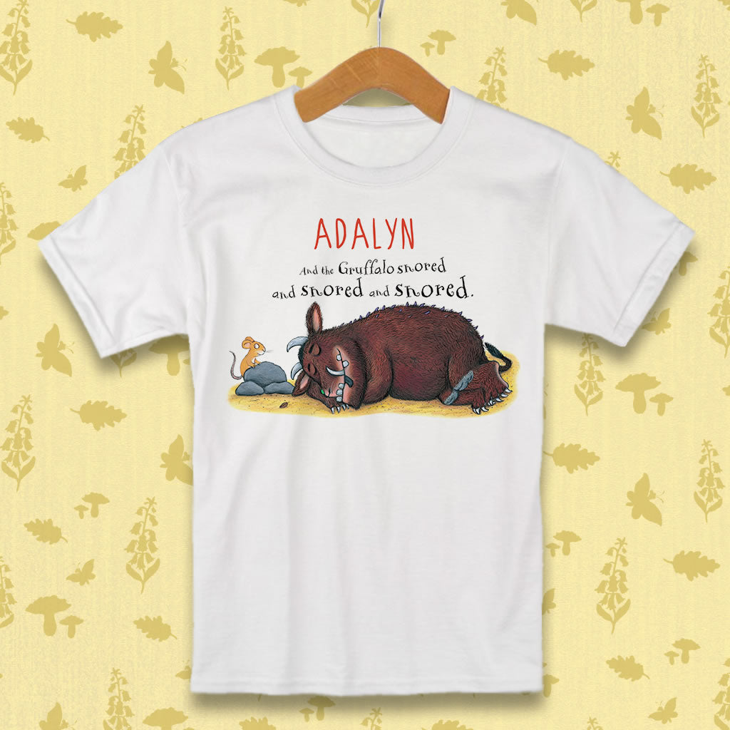 Gruffalo Sleeping Personalised T-shirt