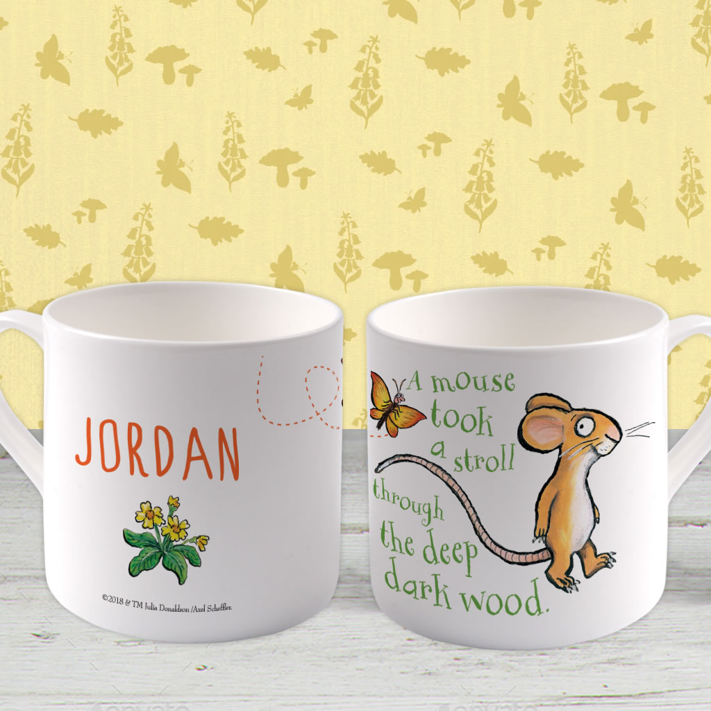 Mouse  Personalised Large Bone China Mug (Lifestyle)