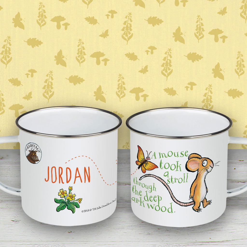 Mouse Personalised Enamel Mug (Lifestyle)