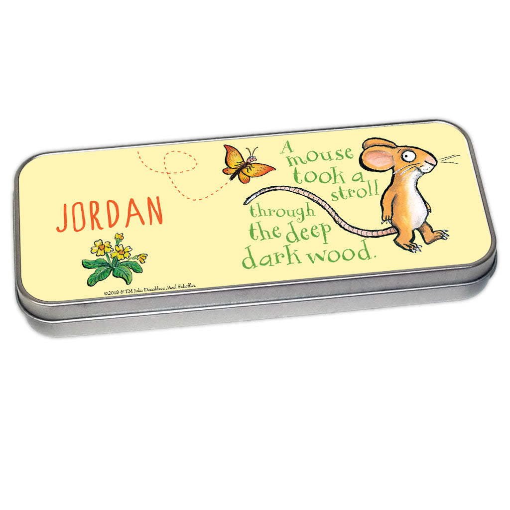 Green Mouse Personalised Pencil Tin