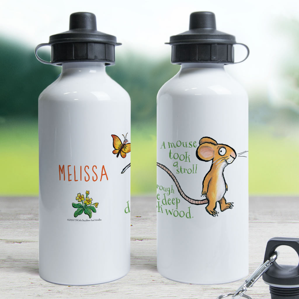 Gruffalo and Mouse Personalised Water Bottle (Lifestyle)