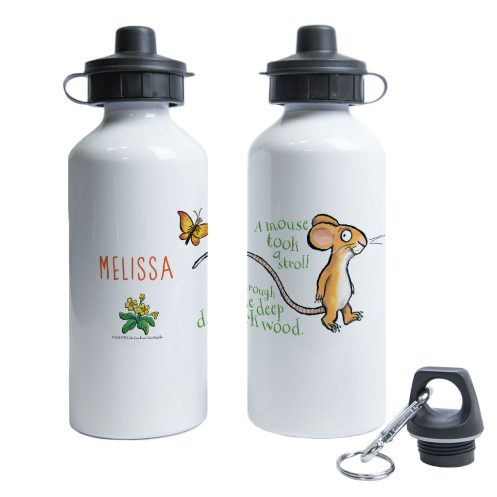 Gruffalo and Mouse Personalised Water Bottle