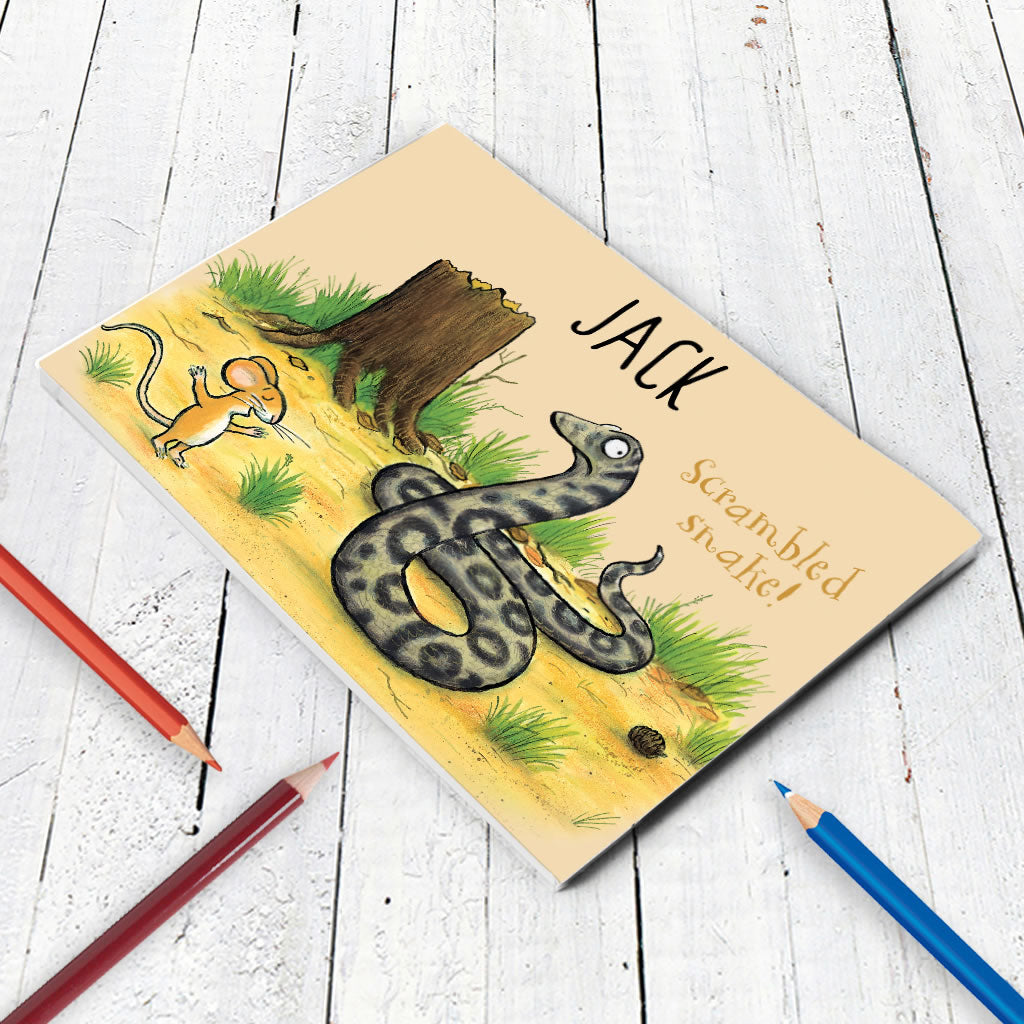 Snake and Mouse Personalised A5 Notepad (Lifestyle)
