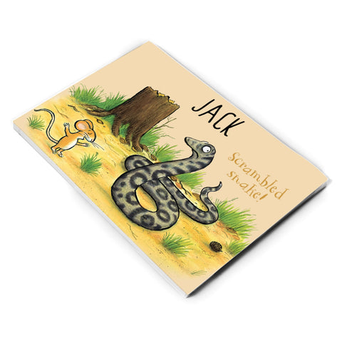 Snake and Mouse Personalised A5 Notepad
