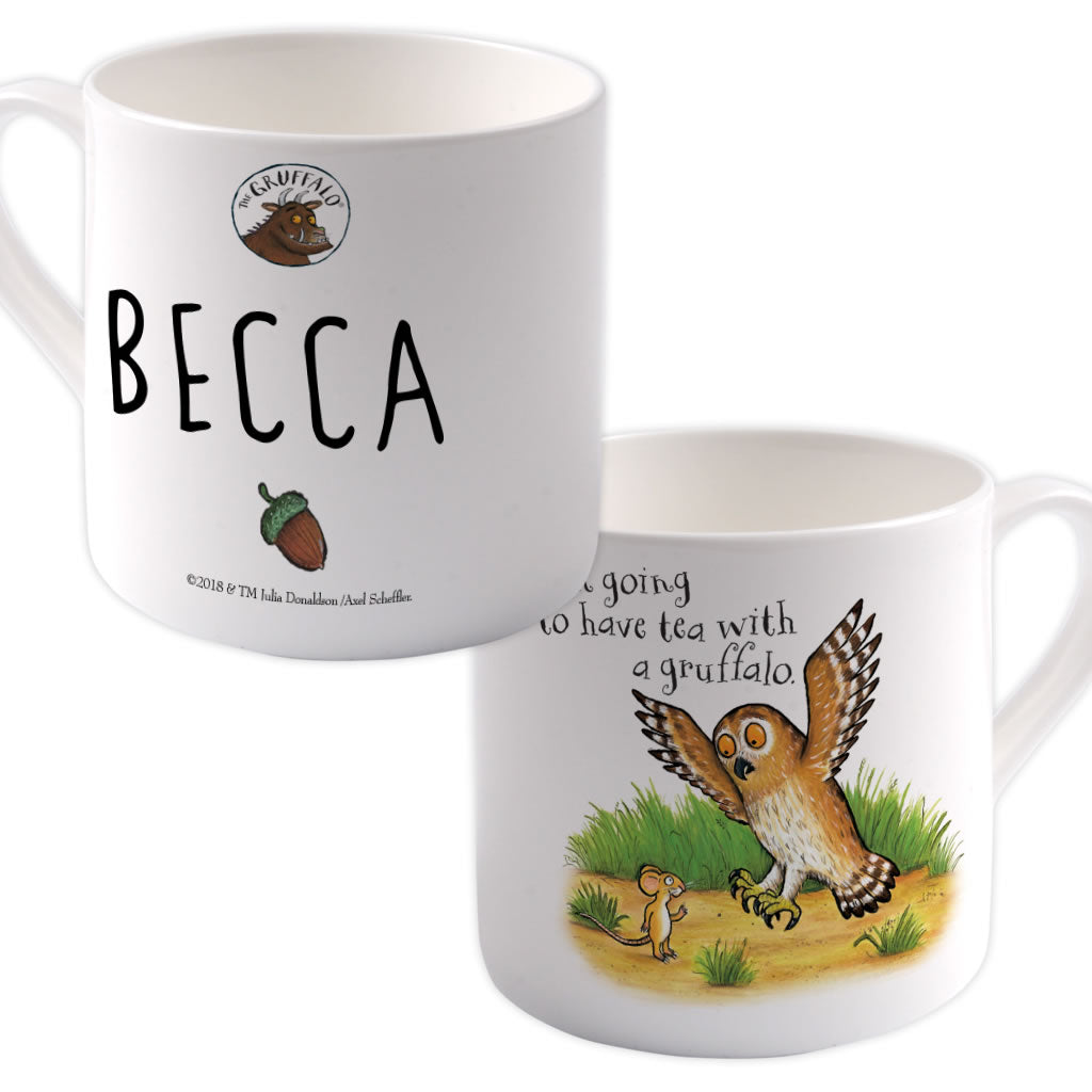 Owl Personalised Large Bone China Mug