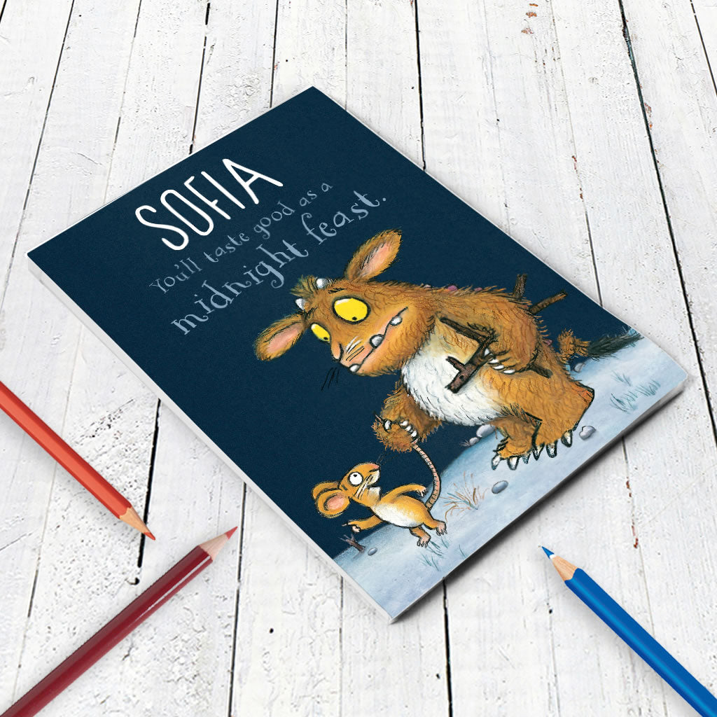 Gruffalo's Child Personalised A5 Notepad (Lifestyle)