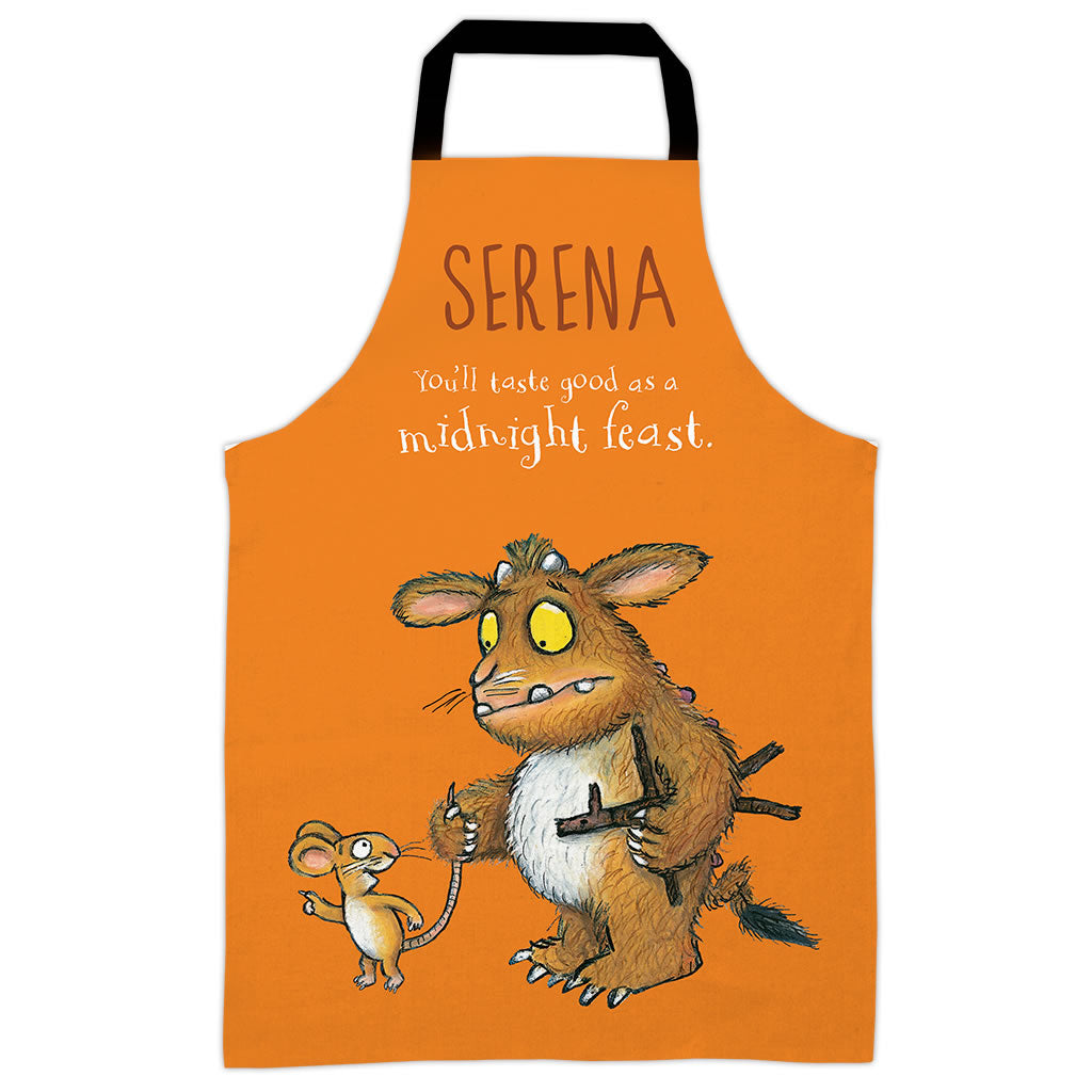 Orange Gruffalo's Child Personalised Apron