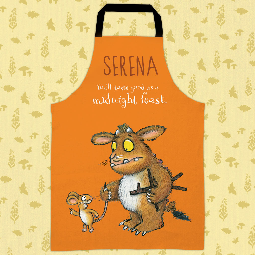 Orange Gruffalo's Child Personalised Apron (Lifestyle)