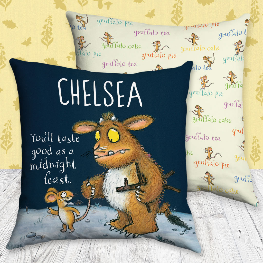 Gruffalo's Child Personalised Cushion (Lifestyle)