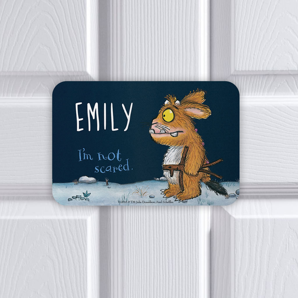 Personalised Gruffalo's Child Personalised Door Plaque (Lifestyle)