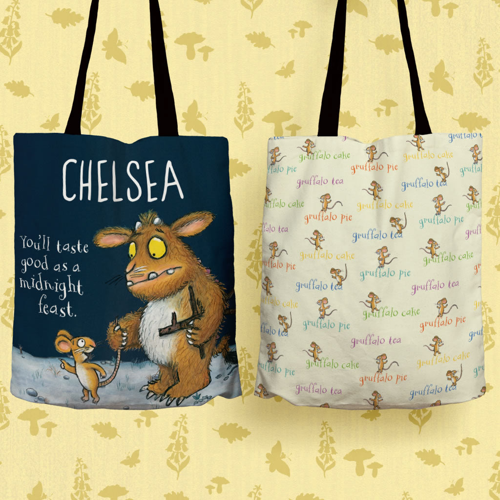 Gruffalo's Child Personalised Edge to Edge Tote Bag (Lifestyle)
