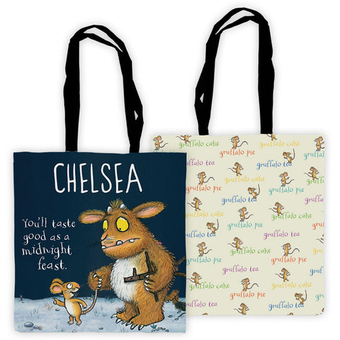 Gruffalo's Child Personalised Edge to Edge Tote Bag