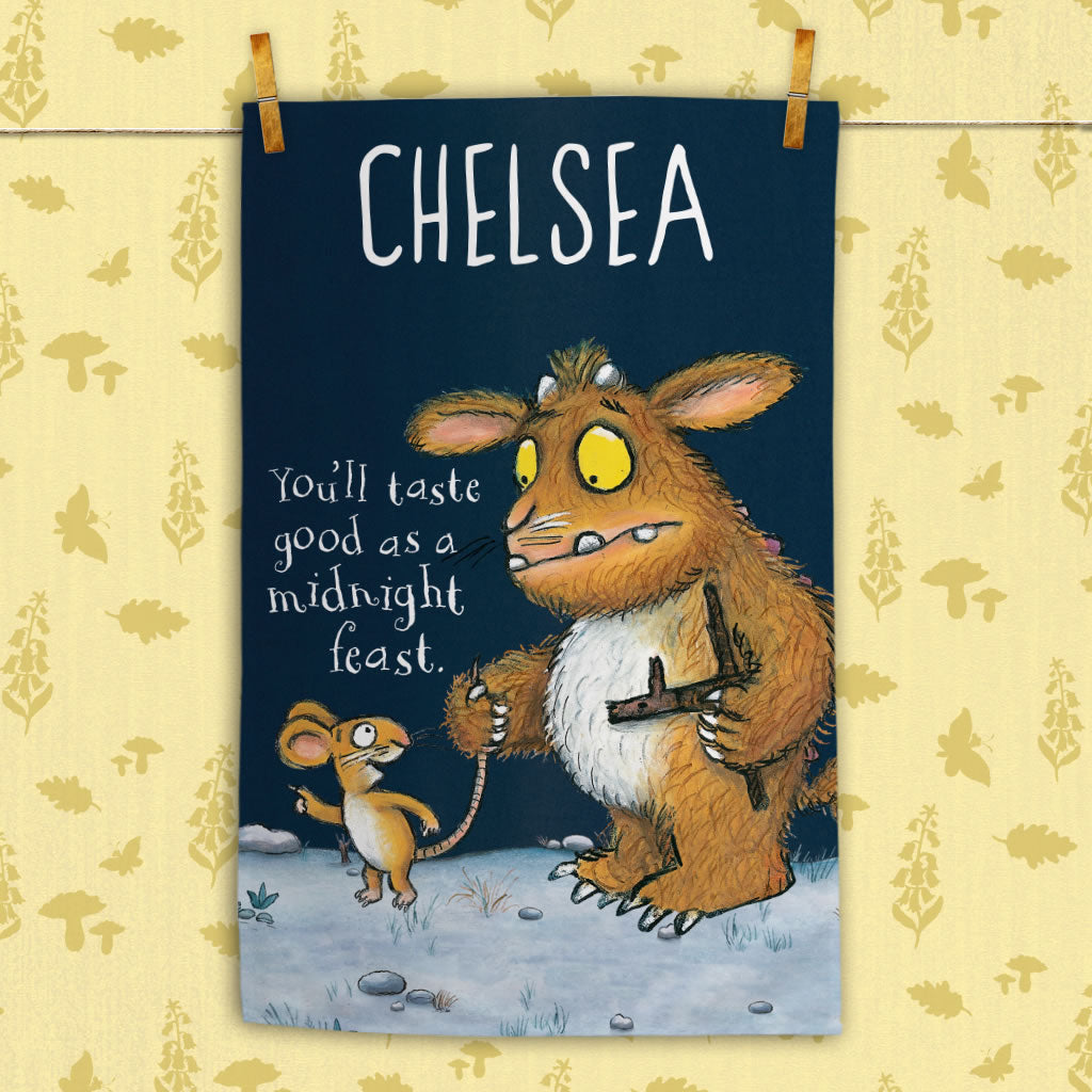 Personalised Gruffalo's Child Personalised Tea Towel (Lifestyle)