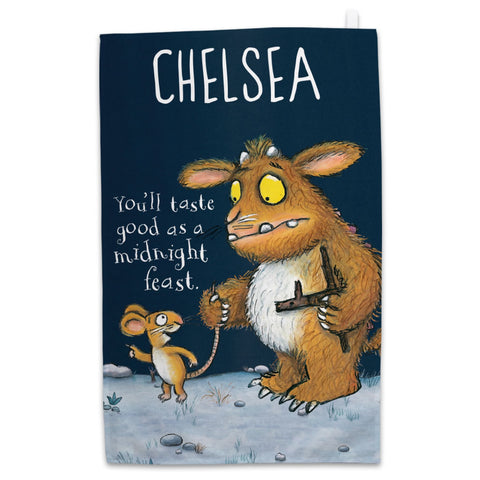 Personalised Gruffalo's Child Personalised Tea Towel