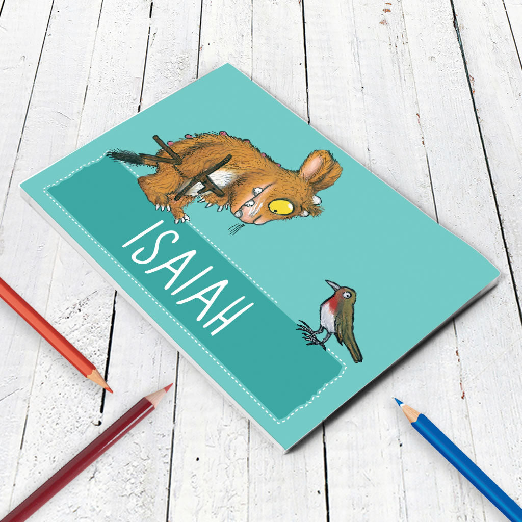 Blue Gruffalo Family Personalised A5 Notepad (Lifestyle)