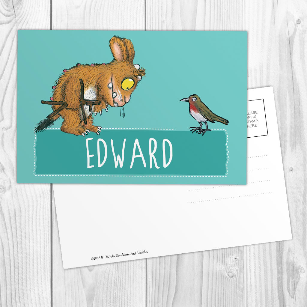 Blue Gruffalo's Child Personalised Postcard (Lifestyle)