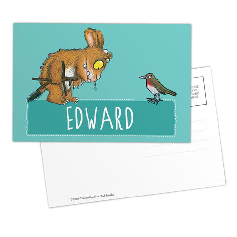 Blue Gruffalo's Child Personalised Postcard