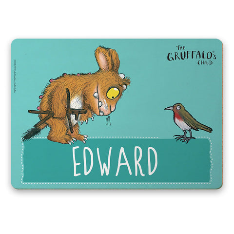 Blue Gruffalo's Child Personalised Placemat