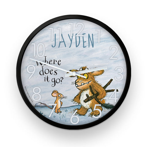 Gruffalo's Child and Mouse  Personalised Clock