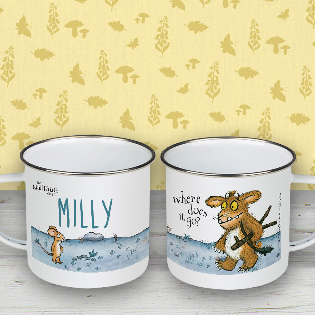 Gruffalo's Child Personalised Enamel Mug (Lifestyle)
