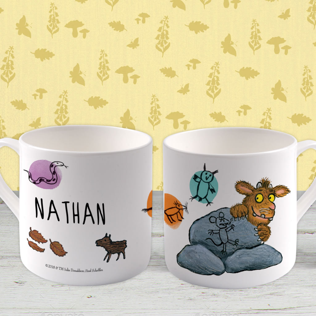 Gruffalo's Child hiding Personalised Large Bone China Mug (Lifestyle)
