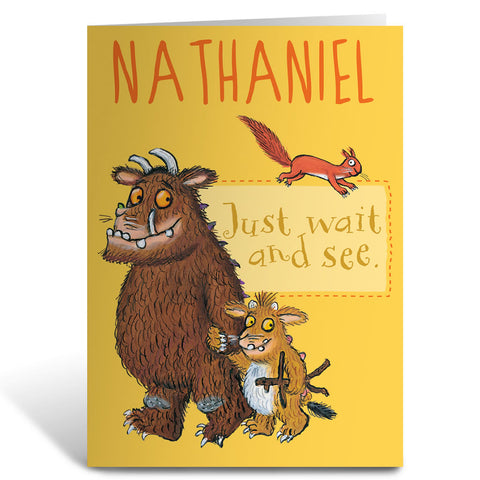 Yellow Gruffalo Family Personalised Greeting Card