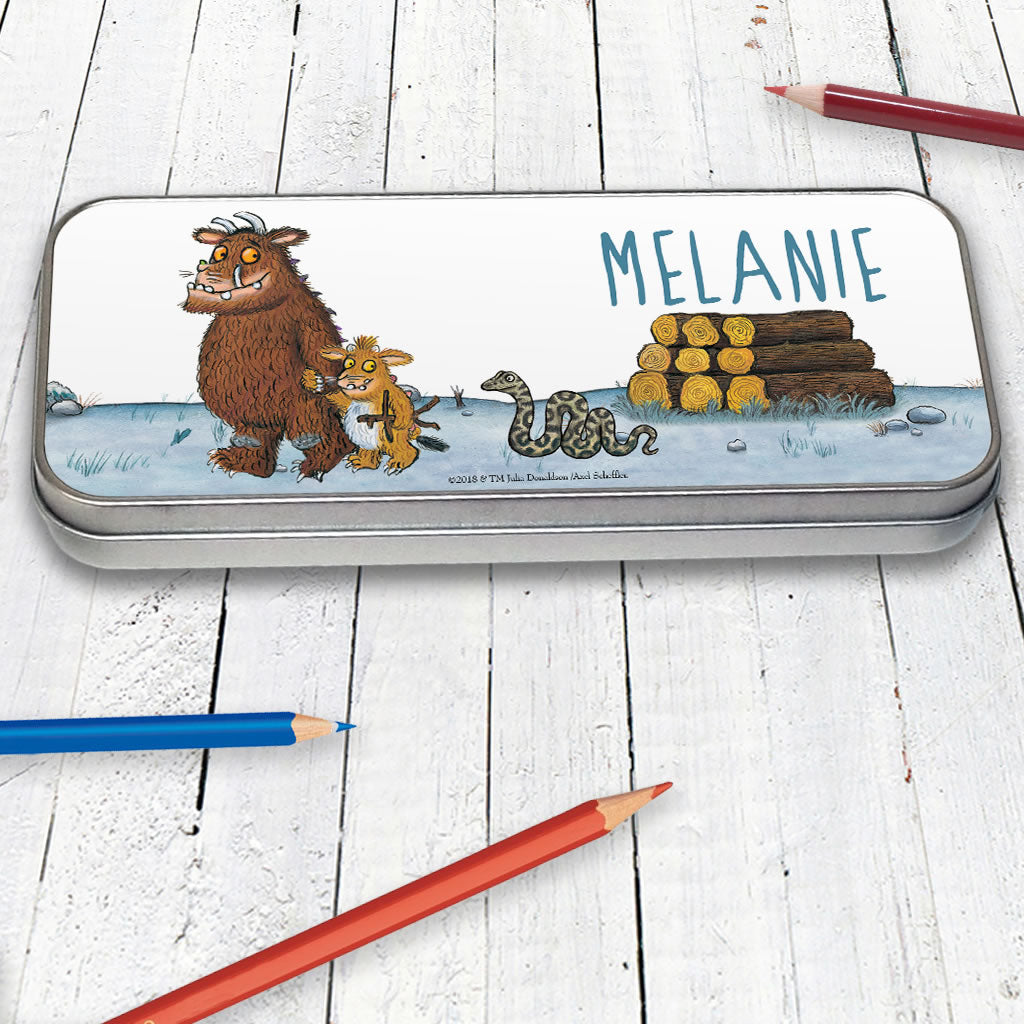 Gruffalo Family Personalised Pencil Tin (Lifestyle)