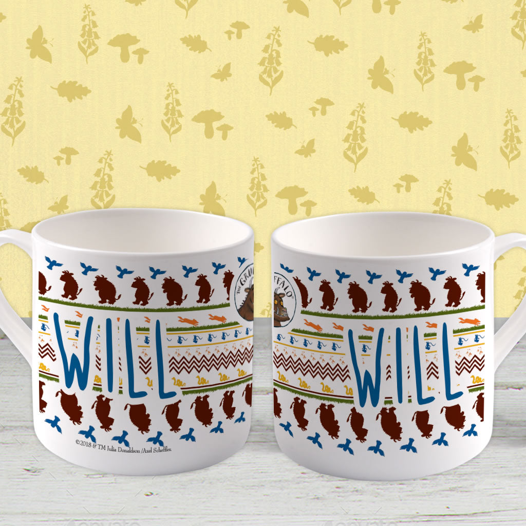 Gruffalo patterned Personalised Large Bone China Mug (Lifestyle)