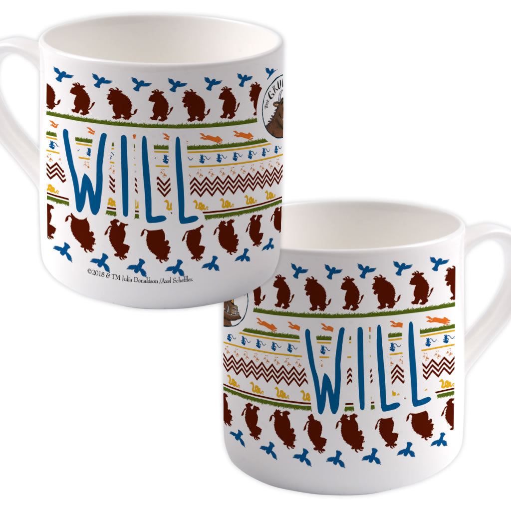 Gruffalo patterned Personalised Large Bone China Mug