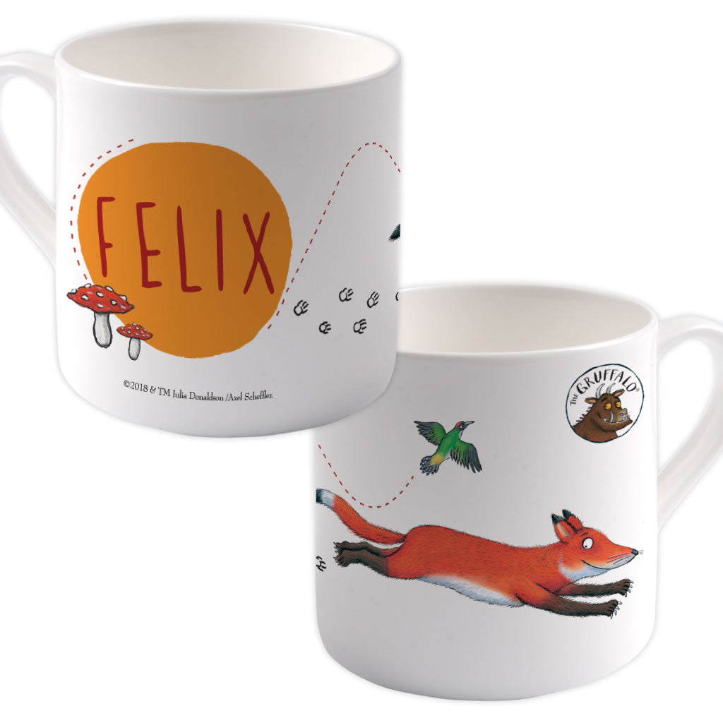 Fox Running  Personalised Large Bone China Mug