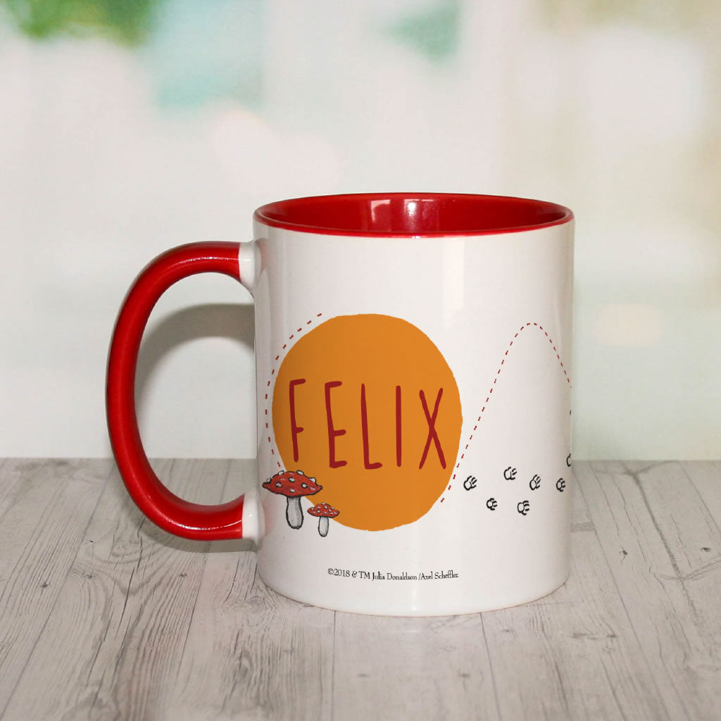 Red Fox Running Personalised Coloured Insert Mug (Lifestyle)