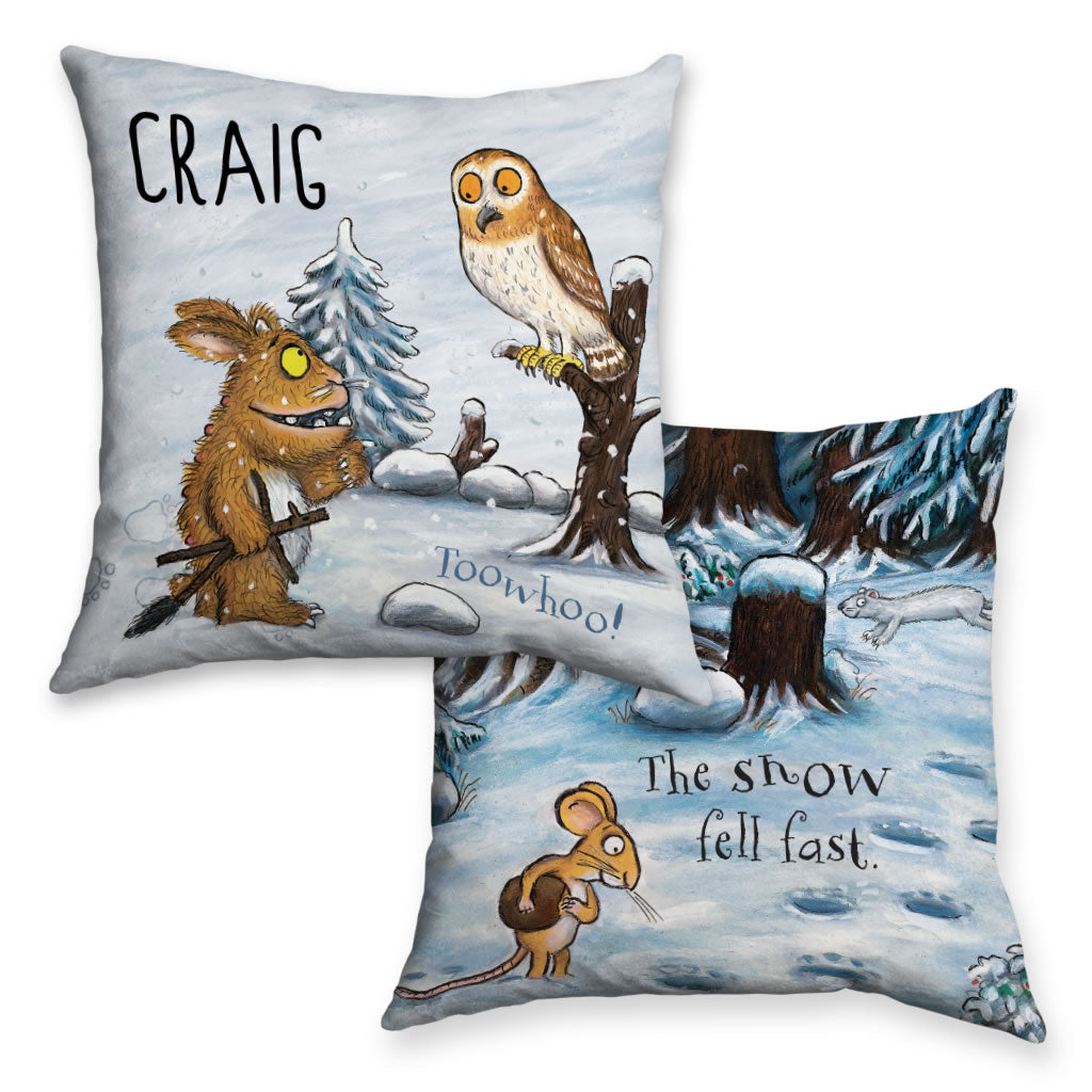 Gruffalo's Child and Owl Personalised Cushion