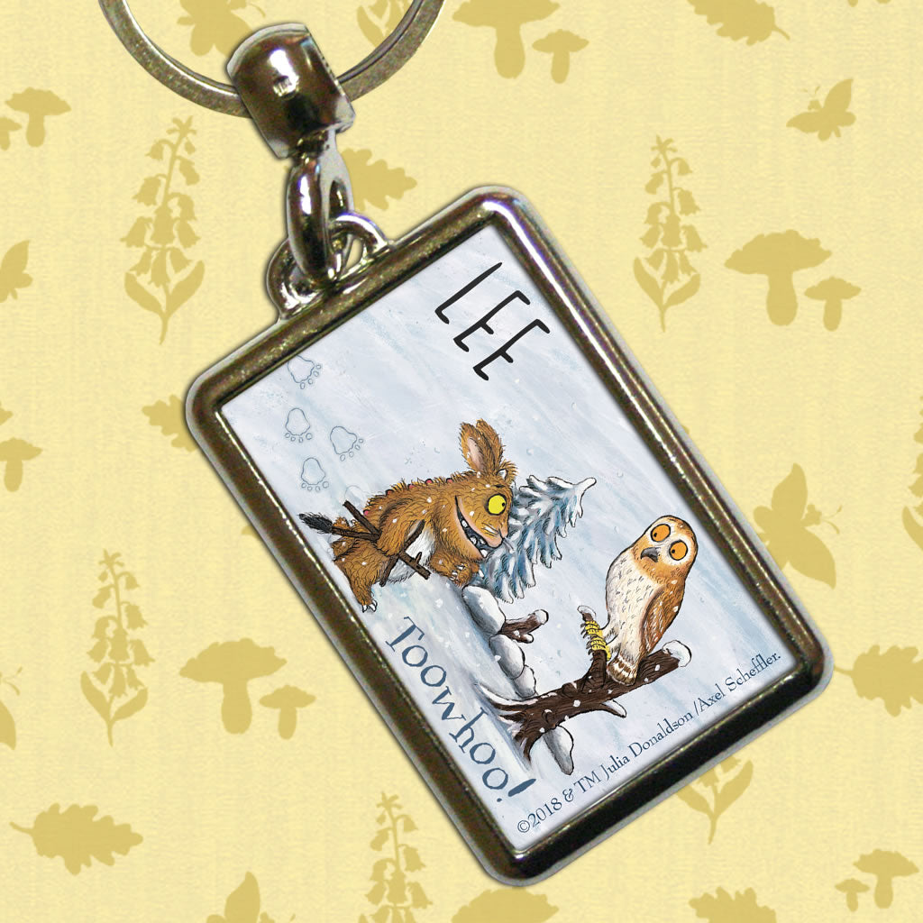 Gruffalo's Child and Owl Personalised Metal Keyring (Lifestyle)