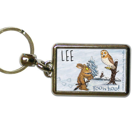 Gruffalo's Child and Owl Personalised Metal Keyring