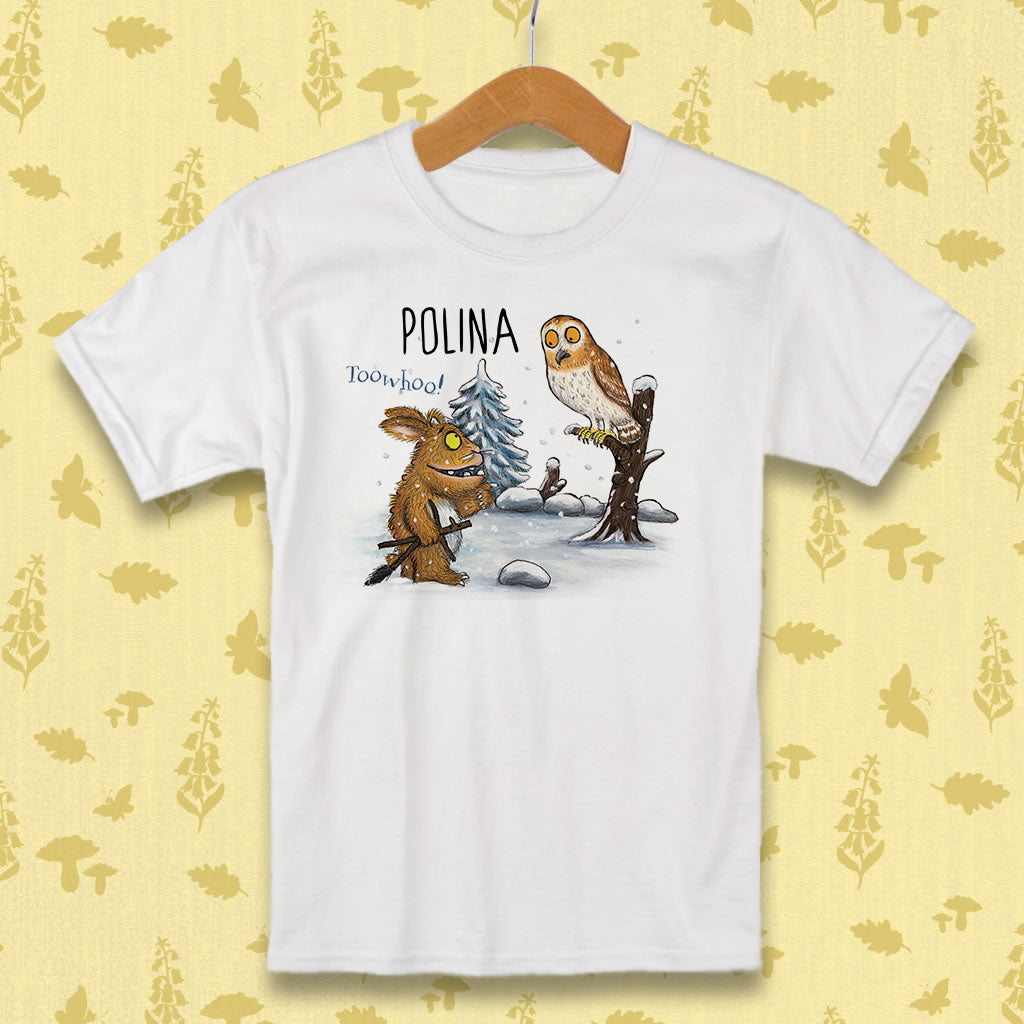 Gruffalo's Child and Owl Personalised T-shirt