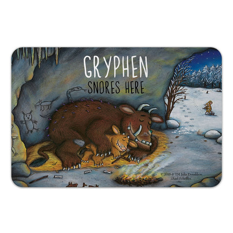 Personalised Gruffalo Family Sleeping Personalised Door Plaque