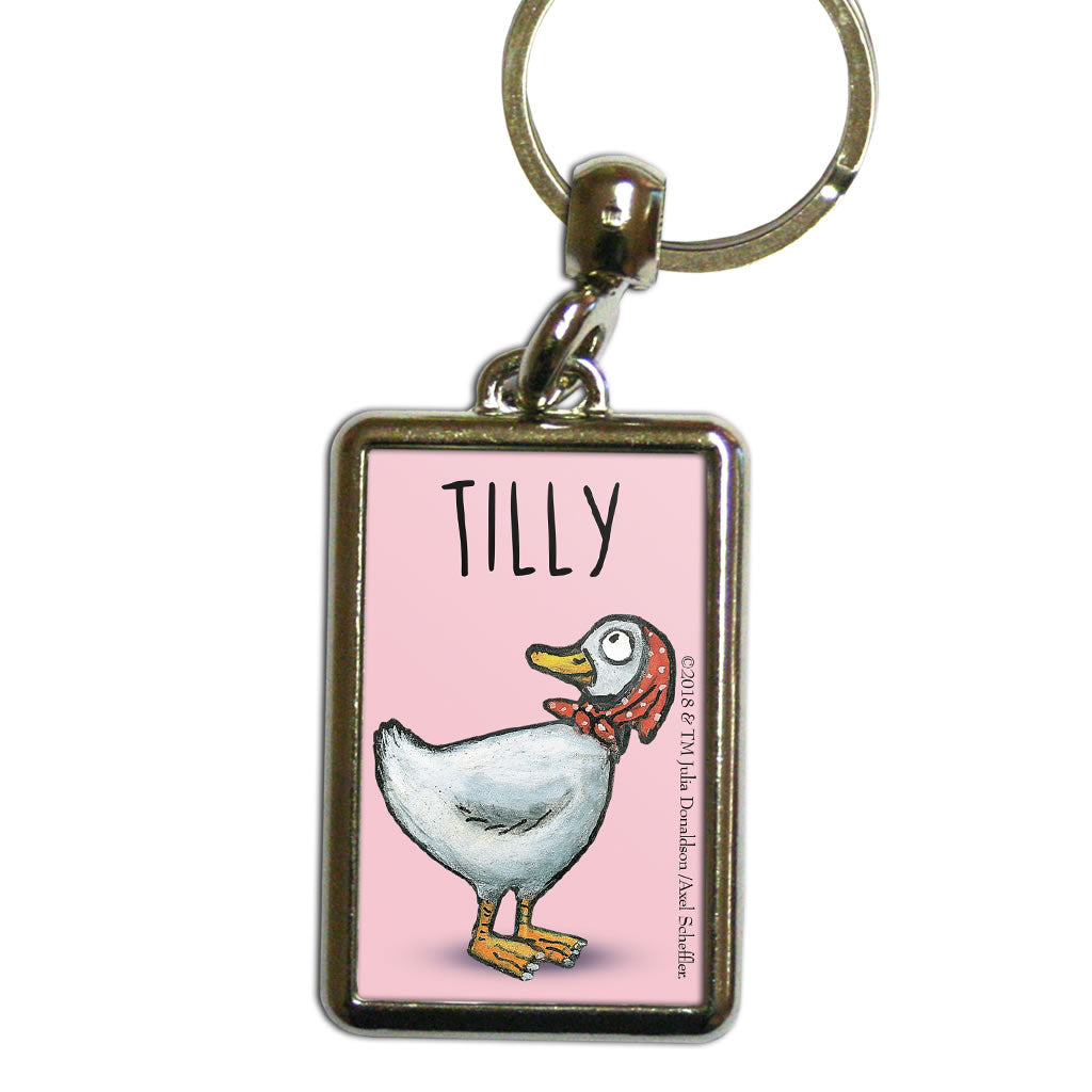 Pink Highway Rat Personalised Metal Keyring