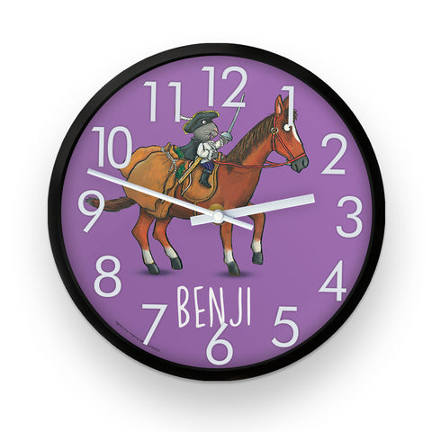 Purple Highway Rat  Personalised Clock
