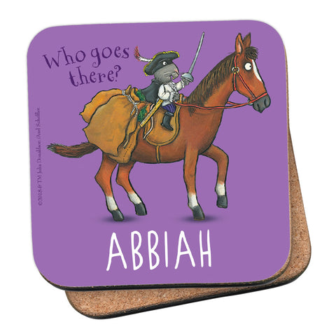 Purple Highway Rat Personalised Coaster