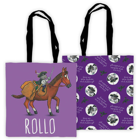 Purple Highway Rat Personalised Edge to Edge Tote Bag