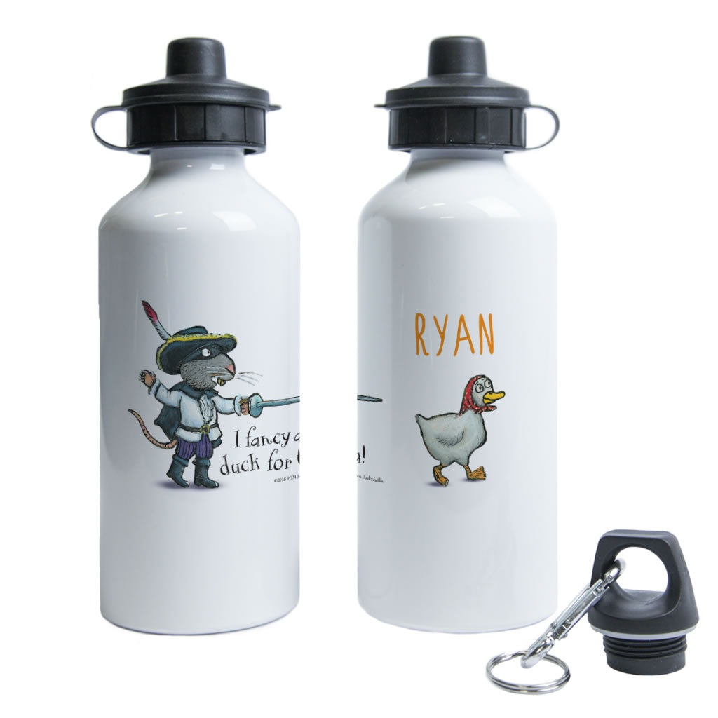 """Duck for tea"" Highway Rat Personalised Water Bottle"